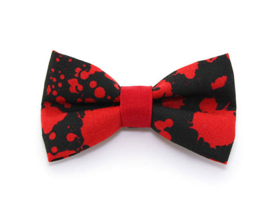 "Halloween Cat Collar - ""Dracula"" - Vampire, American Psycho, Horror Fans - Red Blood Spatters on Black - Breakaway Buckle or Non-Breakaway"