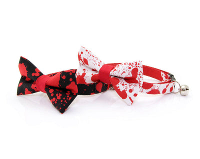 "Vampire Cat Bow Tie - ""Dracula"" - Horror Movie Cat Collar Bow Tie/Kitten Bow Tie/Small Dog Bow Tie - Removable (One Size)"