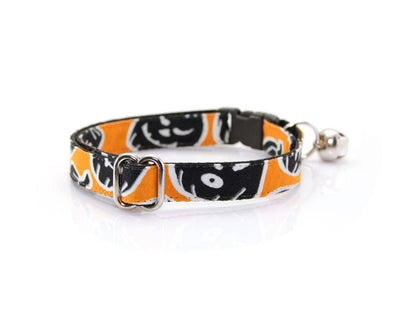 "Halloween Bow Tie Cat Collar Set - ""Sleepy Hollow"" - Glow in the Dark Pumpkin Cat Collar + Bow Tie/Breakaway or Non-Breakaway"