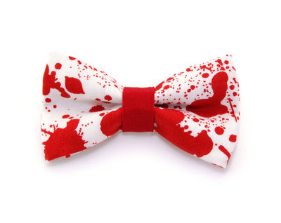 "Horror Movie Bow Tie Cat Collar Set - ""Dexter"" - Horror Fan Gift/Halloween Cat Collar with Bow Tie (Removable)"