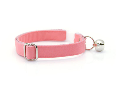 "Cat Collar + Flower Set - ""Color Collection - Coral Pink"" - Cat Collar w/ ""Coral"" Flower (Detachable)/Wedding/Cat, Kitten & Small Dog"