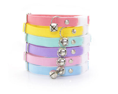 "Cat Collar - ""Color Collection - Lavender"" - Pastel Purple Cat Collar - Breakaway Buckle or Non-Breakaway / Cat, Kitten + Small Dog Sizes"