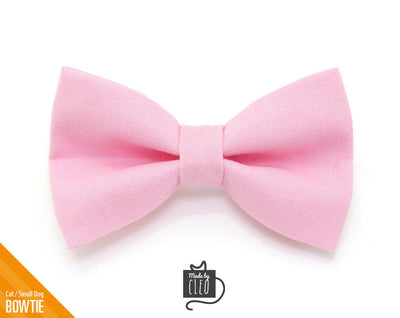 "Cat Bow Tie - ""Color Collection - Pastel Pink"" - Baby Pink Cat Collar Bow Tie / Kitten Bow / Dog Bowtie / Wedding / Removable (One Size)"