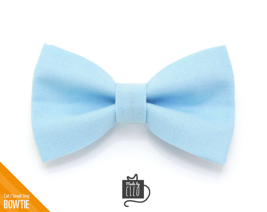 Gray Dot Cat Collar Bow Tie  Kitten Bow Tie  Small Dog Bowtie  Wedding  Removable Park Avenue Chambray Cat Bow Tie One Size