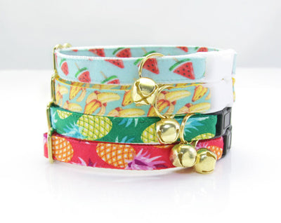 "Cat Collar - ""Banana Appeal"" - Yellow Banana Cat Collar - Breakaway Buckle or Non-Breakaway / Cat, Kitten + Small Dog Sizes"