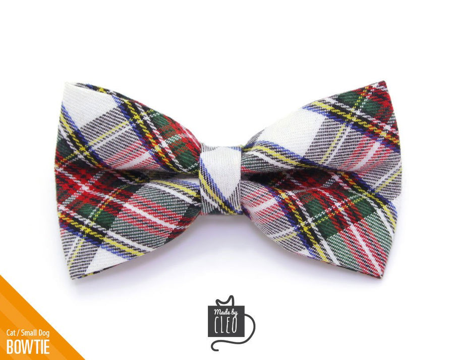 plaid cat bow tie orchard house red ivory cat collar bow