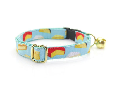 "Cat Collar - ""Say Cheese"" - Breakaway Buckle or Non-Breakaway / Cat, Kitten + Small Dog Sizes"