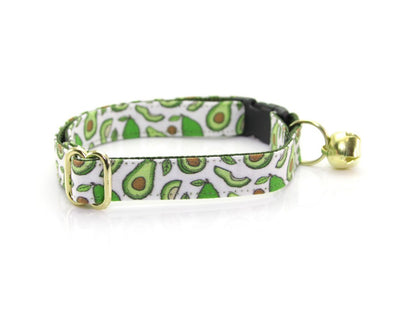 "Cat Collar - ""Avocado Baby - Green"" - Breakaway Buckle or Non-Breakaway / Cat, Kitten + Small Dog Sizes"