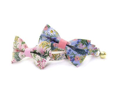 "Cat Bow Tie - ""Wildflowers - Purple"" - Rifle Paper Co® Floral Bowtie / For Cats + Small Dogs / Removable (One Size)"