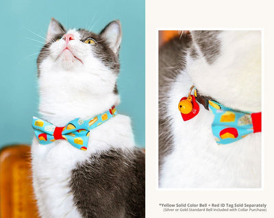 "Cat Bow Tie - ""Say Cheese"" Bowtie / For Cats + Small Dogs / Removable (One Size)"
