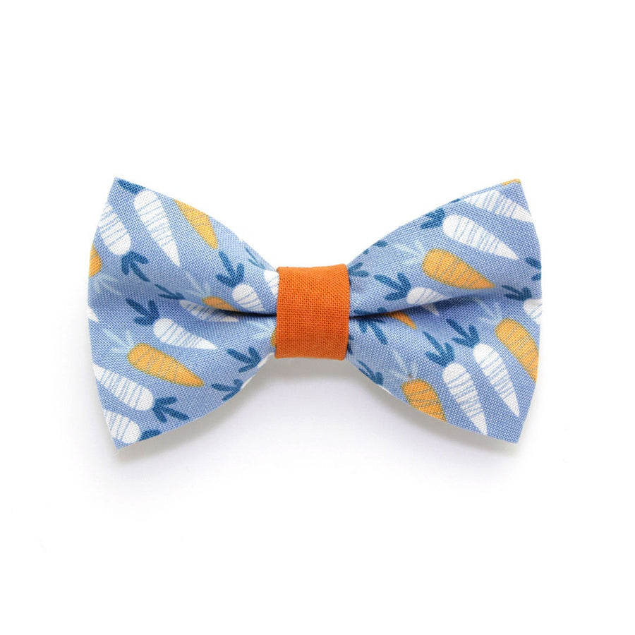 "Bow Tie Cat Collar Set - ""Some Bunny Loves You"" - Carrot Cat Collar w/ Matching Bowtie (Removable) / Easter"