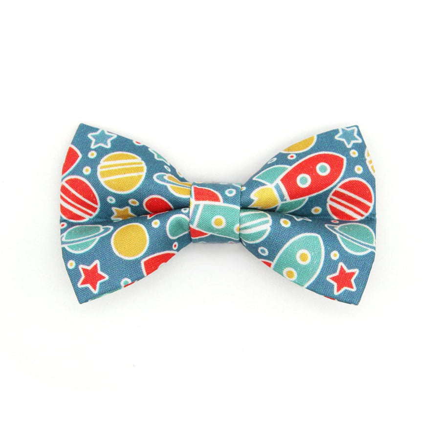 "Bow Tie Cat Collar Set - ""Intergalactic"" - Space Cat Collar w/ Matching Bowtie / Cat, Kitten, Small Dog Sizes"