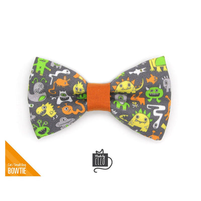 "Pet Bow Tie - ""Monster Medley"" - Monsters & Aliens Bow Tie for Cat / Fun, Sci-Fi, Geek / For Cats + Small Dogs (One Size)"
