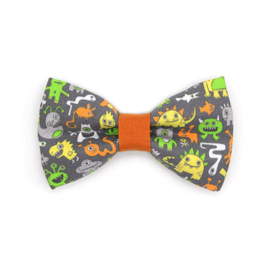 "Bow Tie Cat Collar Set - ""Monster Medley"" - Monsters & Aliens Cat Collar w/ Matching Bowtie / Cat, Kitten, Small Dog Sizes"
