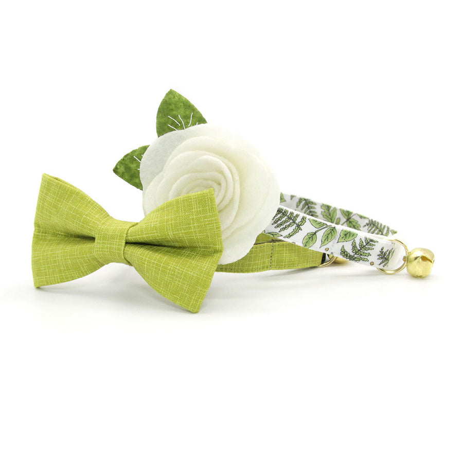 "Pet Bow Tie - ""Chartreuse"" - Green Bow Tie for Cat / Spring, Summer, Wedding, Solid Color / For Cats + Small Dogs (One Size)"