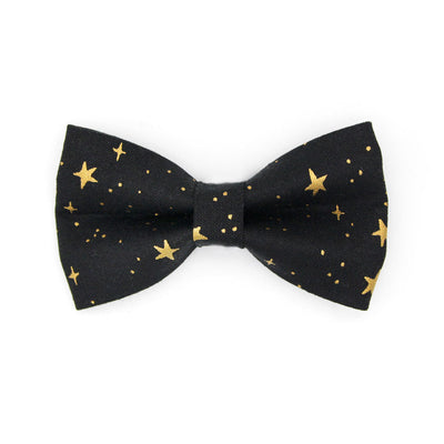 "BACKORDER 3/3 - Rifle Paper Co® Bow Tie Cat Collar Set - ""Noir"" - Black & Gold Star Cat Collar w/ Matching Bowtie / Cat, Kitten, Small Dog Sizes"