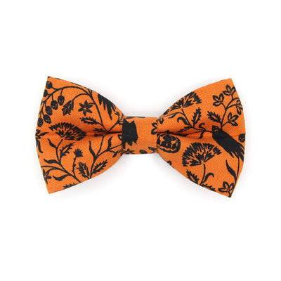 "Halloween Bow Tie Cat Collar Set - ""Gothic Halloween"" - Black & Orange Cat Collar w/ Matching Bowtie / Cat, Kitten, Small Dog Sizes"