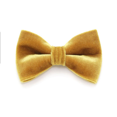 "Bow Tie Cat Collar Set - ""Champagne + Gold Velvet Bow"" - Light Gold Sparkle Cat Collar + Velvet Bowtie / New Year's Eve / Wedding / Cat, Kitten, Small Dog Sizes"