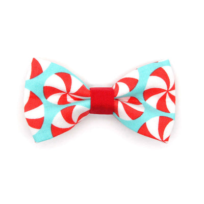 "Holiday Cat Collar - ""Lollipop Aqua"" - Christmas Candy Cat Collar - Breakaway Buckle or Non-Breakaway / Cat, Kitten + Small Dog Sizes"