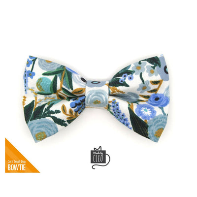 "Rifle Paper Co® Pet Bow Tie - ""Indigo Garden"" - Blue Floral Bow Tie for Cat/ Spring + Summer / For Cats + Small Dogs (One Size)"