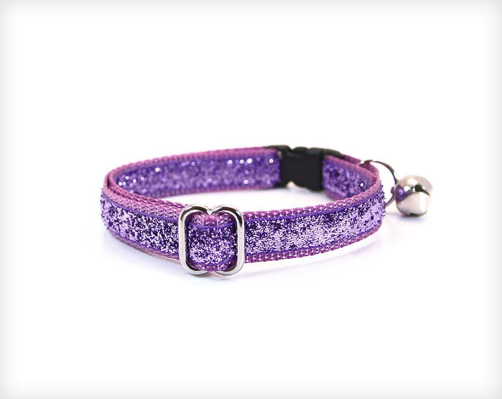 cat collar pixie lavender purple sparkle made by cleo. Black Bedroom Furniture Sets. Home Design Ideas