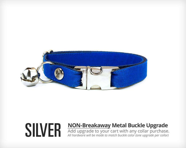 Pet Collar Upgrade - Metal Buckle Upgrade - Gold Or Silver - Add To Any Collar Order