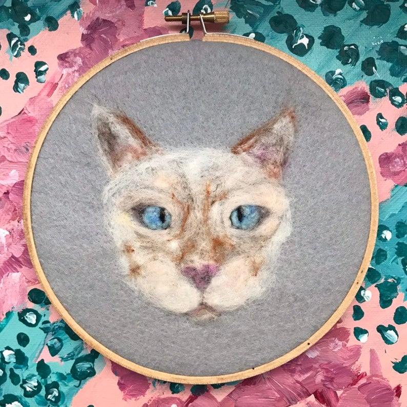Ceramic Yellow Kitty Cat Pink Bow Blue Eyes Light Swtich Figure Plate Cover