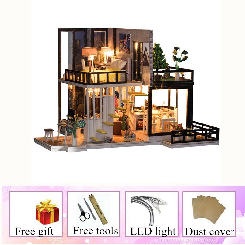 Big wooden doll house