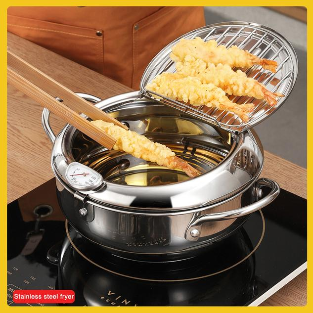 Induction Cooker Universal Stainless Steel Flat Bottom Fryer