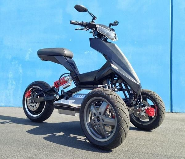 All-Electric Tilting Trike Scooter