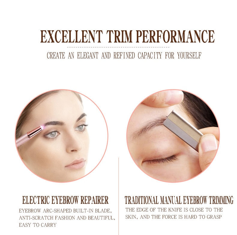 Electric eyebrow trimming