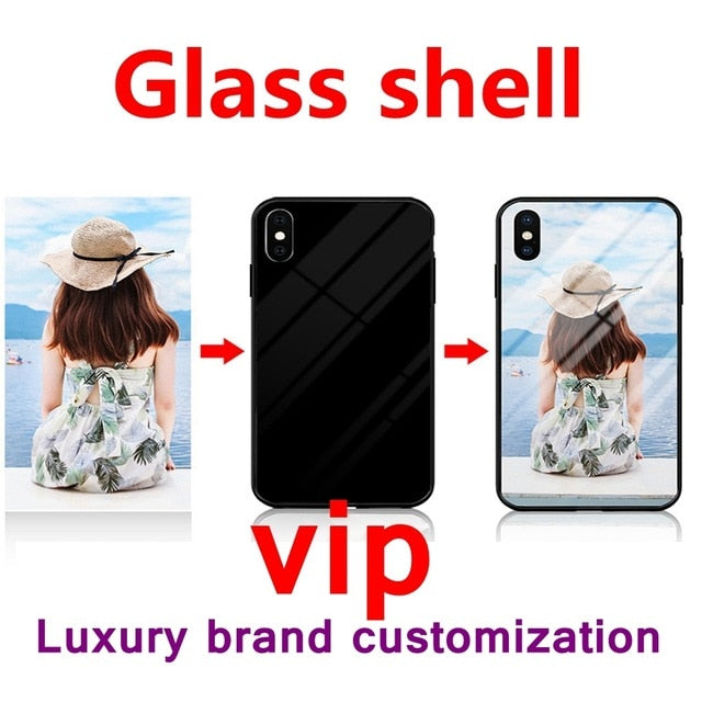 Custom Personalized Glass Phone Case For IPhone