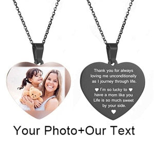 Necklace of all Shape Heart Round Tag