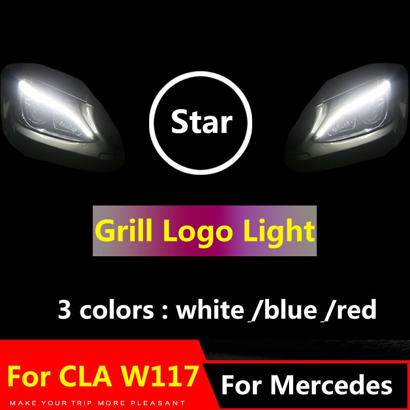 ILLUMINATED Mercedes Benz Badge