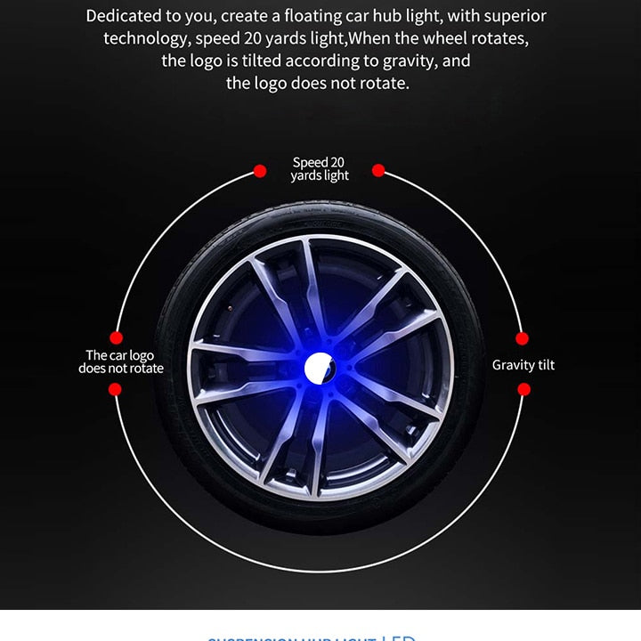 LED Floating Wheel Cap