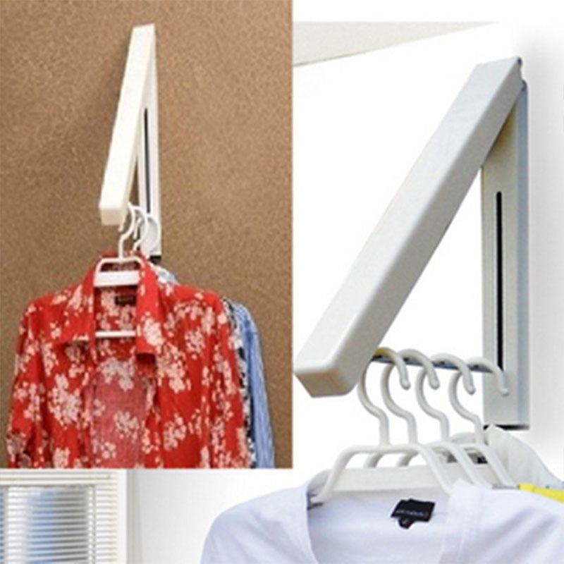 Wall Mounted Folding Retractable Clothes Rack