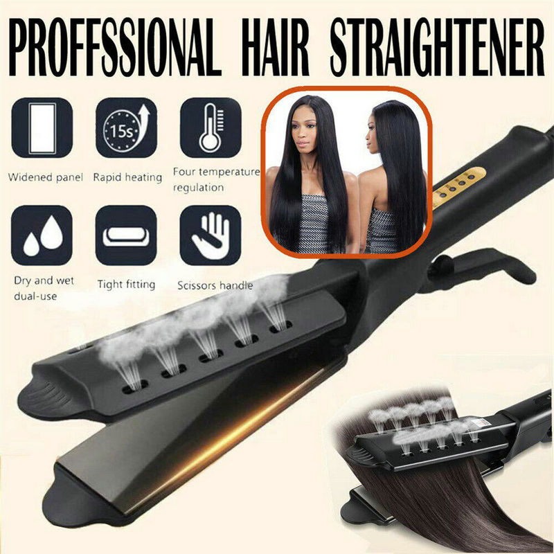2020 New Anti-Static Ceramic 2 in 1 Straightener and Curling Iron Dual