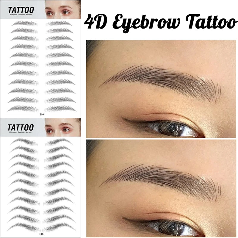 Imitation Ecological Tattoo Eyebrow Stickers