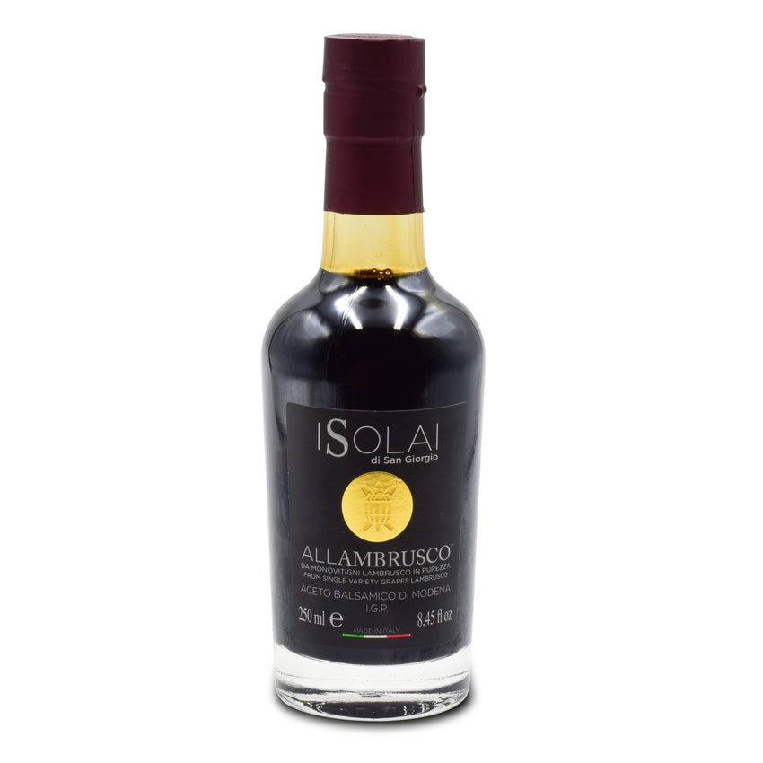 ACETO BALSAMICO ALLAMBRUSCO - I SOLAI - 250 ML BOTTLE