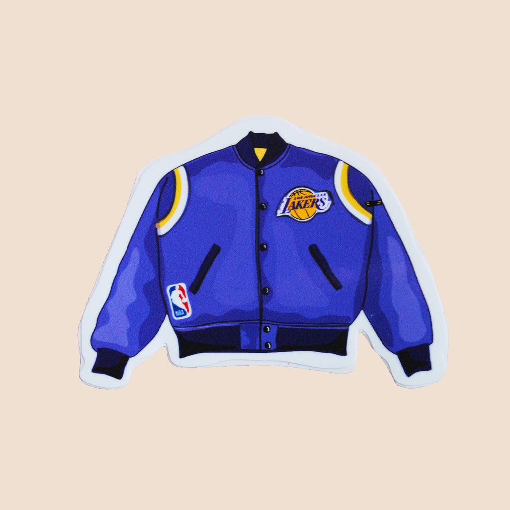 Lakers jacket stickers vintage bomber