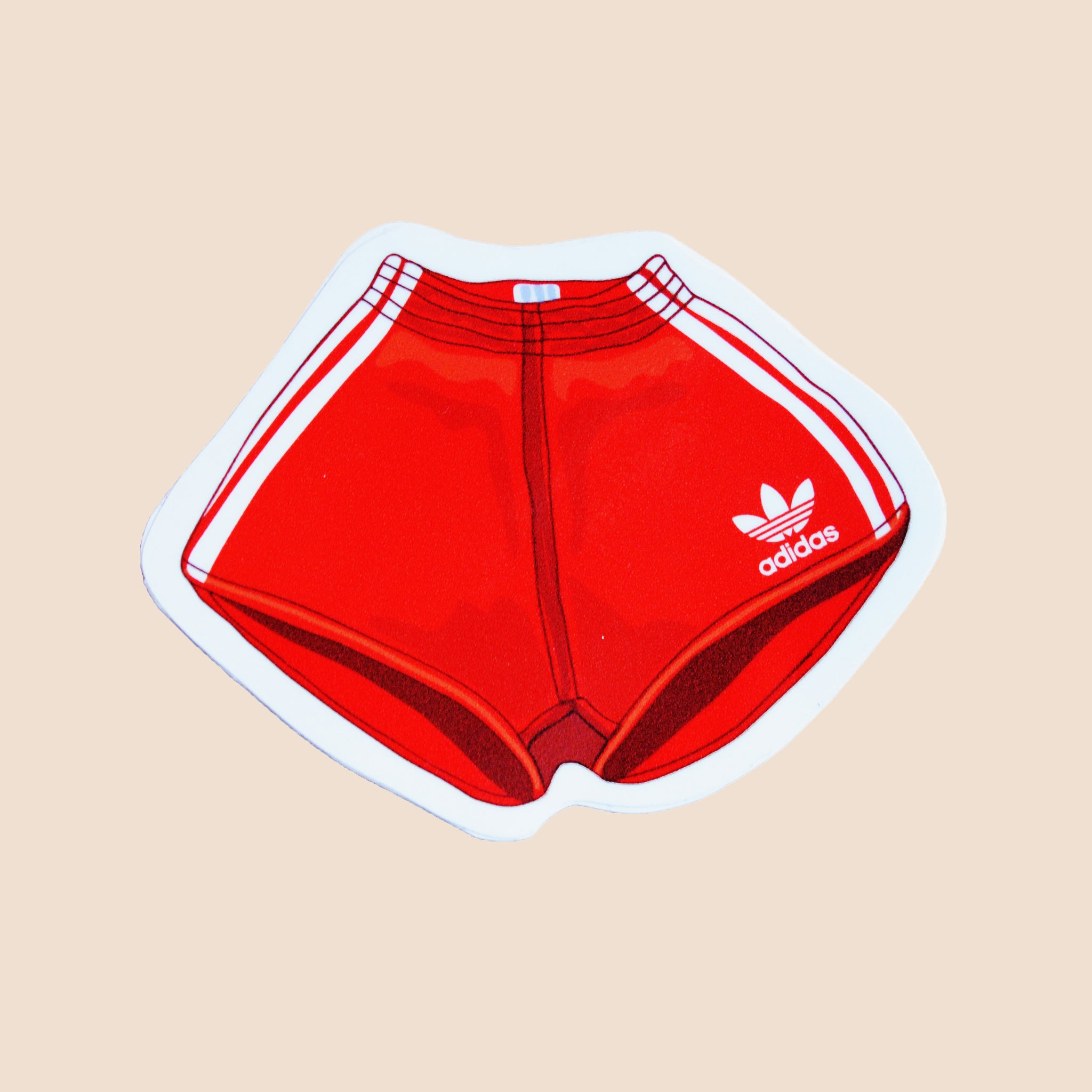 adidas red shorts stickers