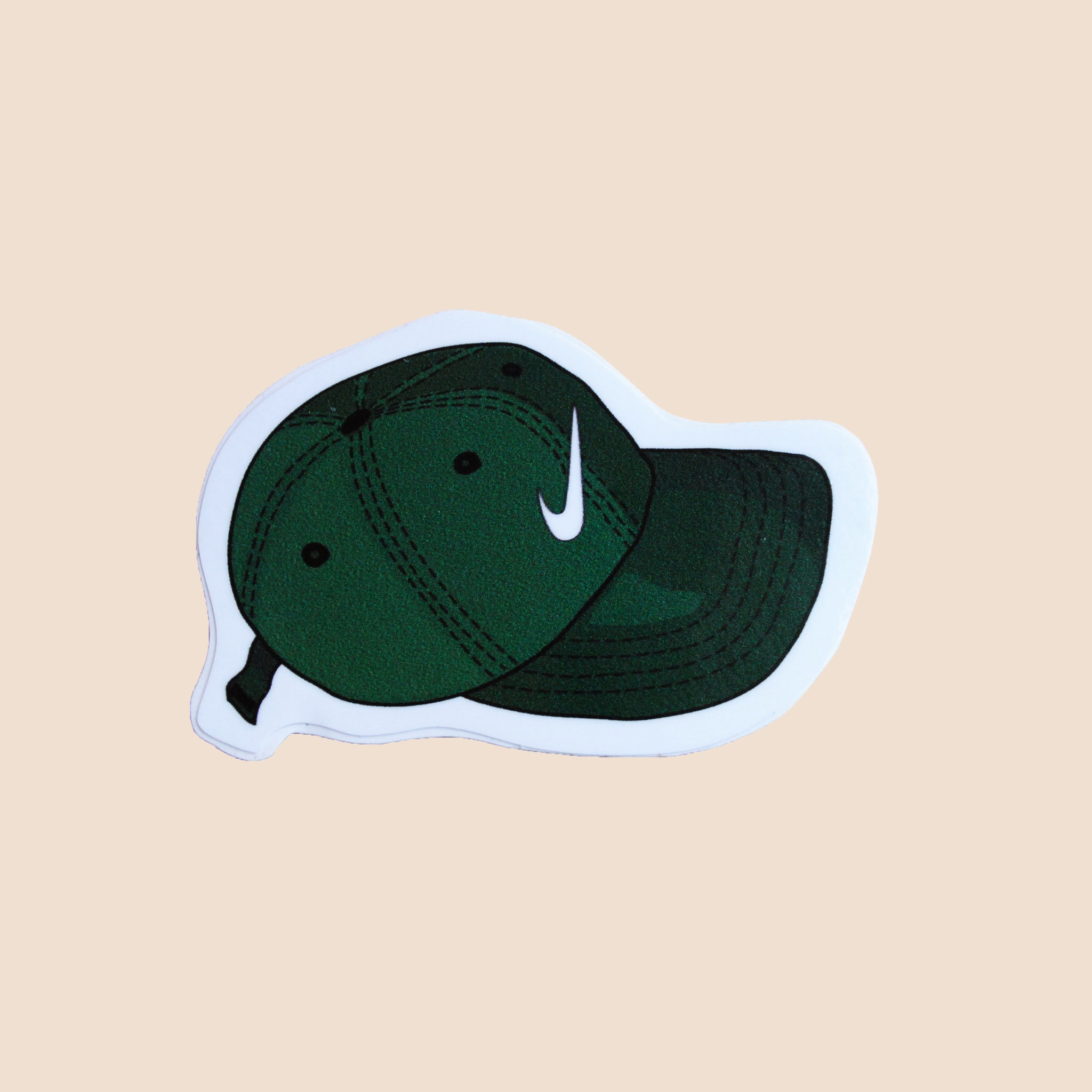 nike cap green laptop sticker