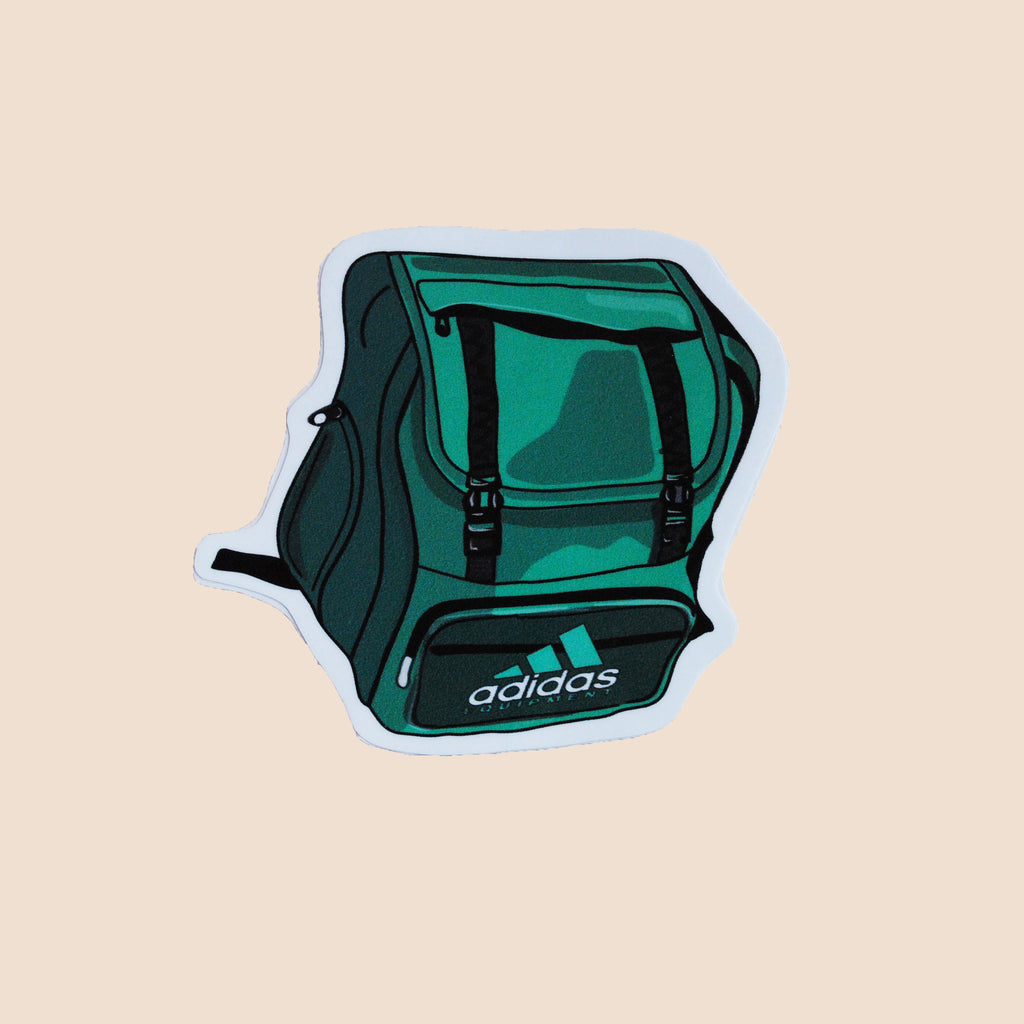 vintage high quality sicker green adidas backpack