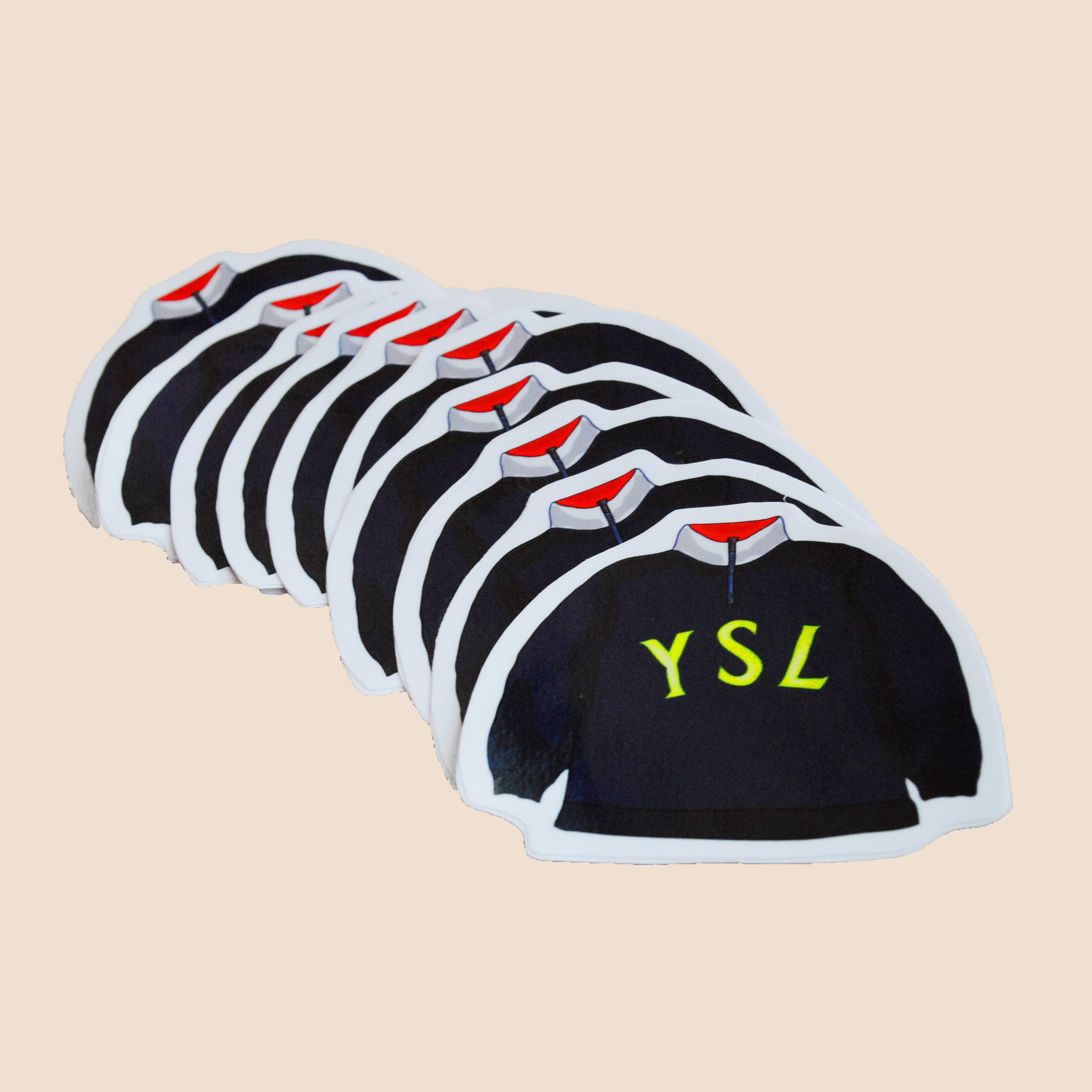 yves saint laurent sweater big logo sticker