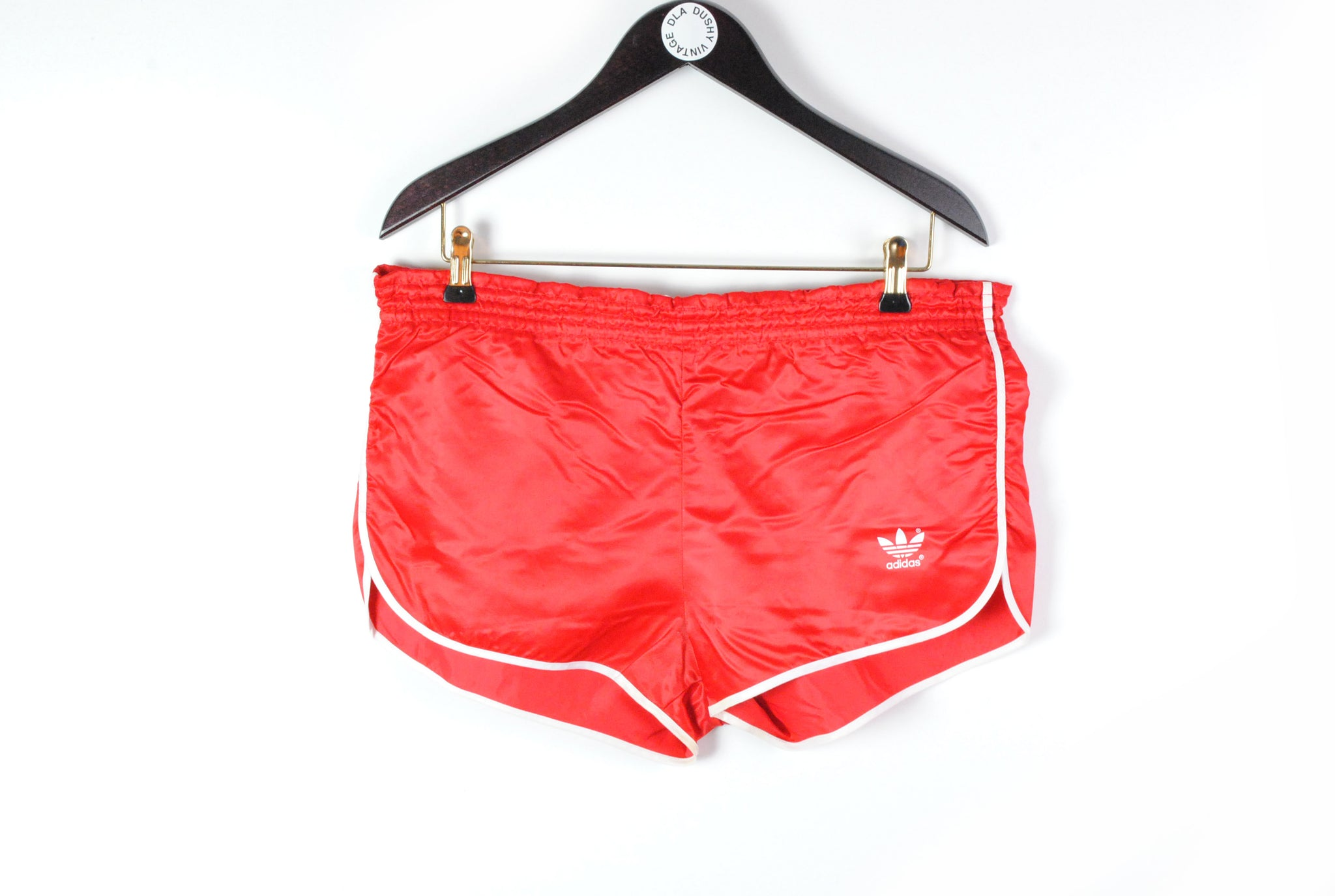 Vintage Adidas Shorts Large red 90s sport retro style polyester sport style made in west germany