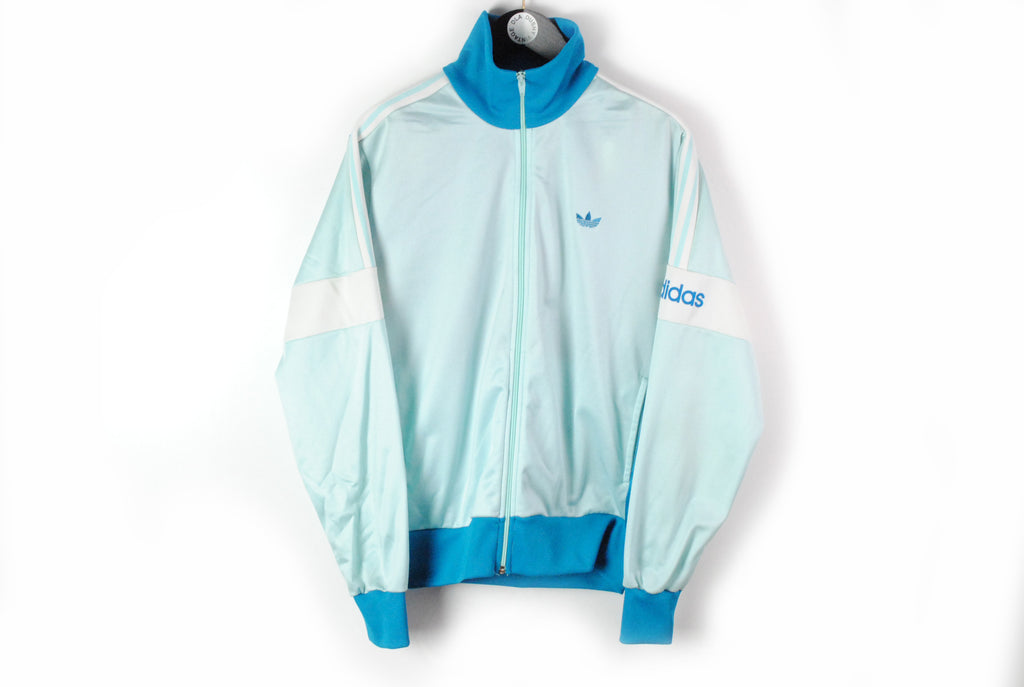Vintage Adidas Track Jacket Medium / Large blue 90s sport wear retro style authentic windbreaker
