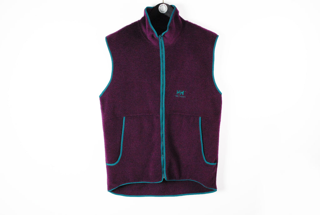 Vintage Helly Hansen Fleece Vest Large purple 90s sport style sleeveless