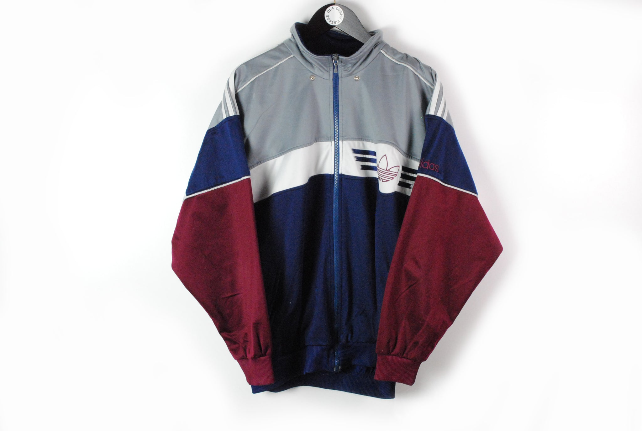 Vintage Adidas Track Jacket Large  big logo 90s sport style retro wear athletic windbreaker