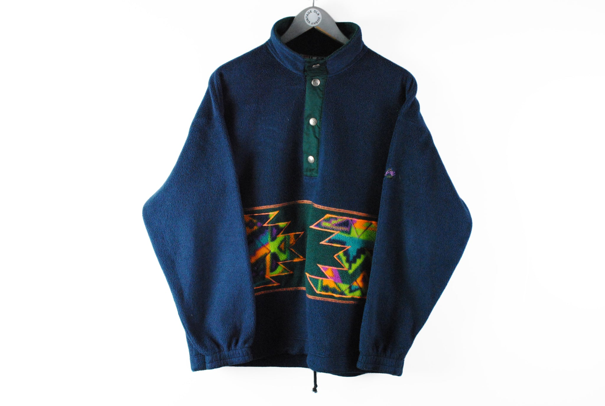 Vintage Fila Magic Line Fleece Medium / Large blue abstract color multicolor 90s outdoor ski sweater