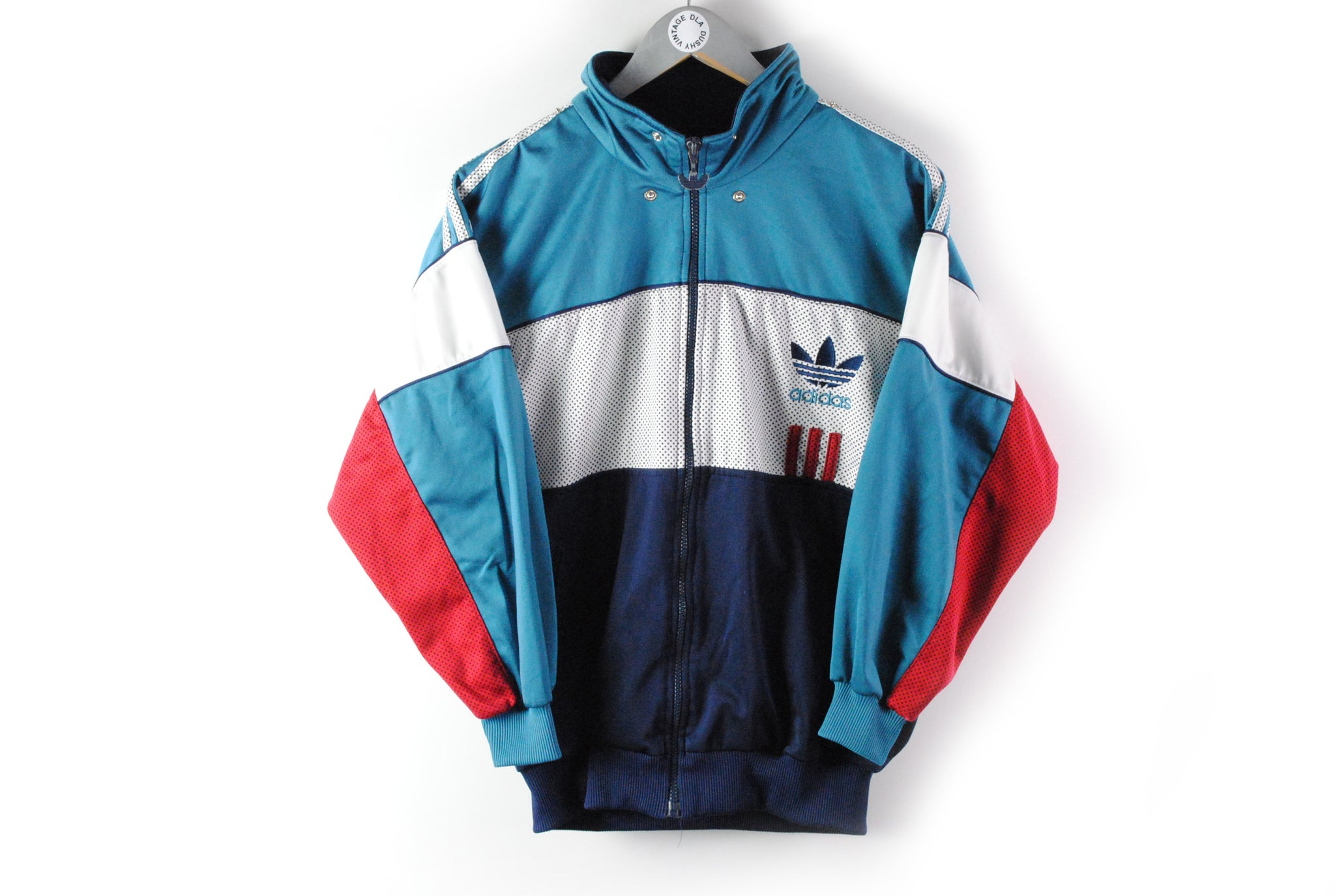 Vintage Adidas Tracksuit Small big logo green retro style sport windbreaker 90s